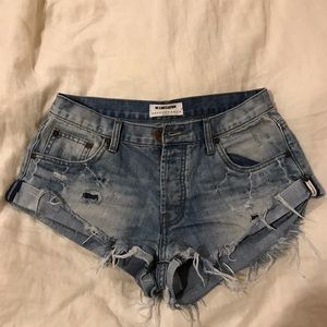 One x oneteaspoon denim shorts 27